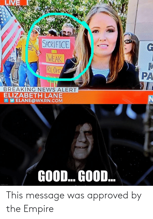 message: This message was approved by the Empire
