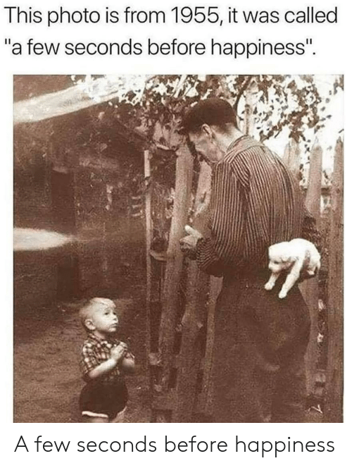 """Happiness, Photo, and This: This photo is from 1955, it was called  """"a few seconds before happiness"""". A few seconds before happiness"""
