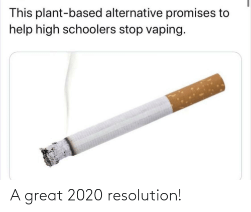 plant: This plant-based alternative promises to  help high schoolers stop vaping. A great 2020 resolution!