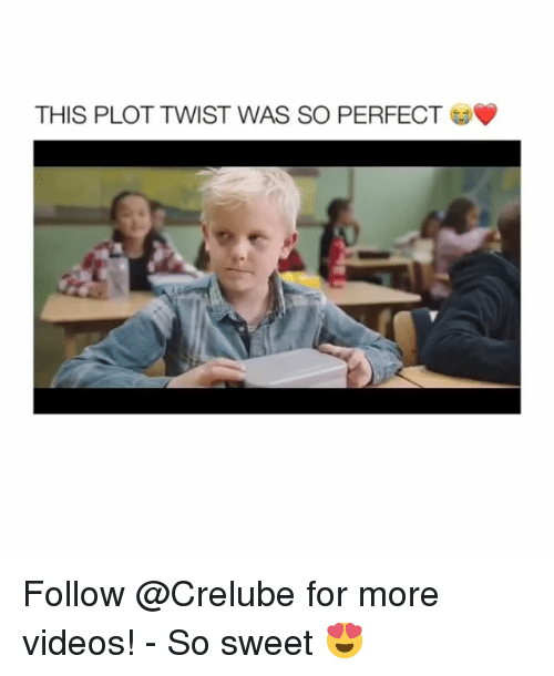 Memes, Videos, and 🤖: THIS PLOT TWIST WAS SO PERFECT Follow @Crelube for more videos! - So sweet 😍