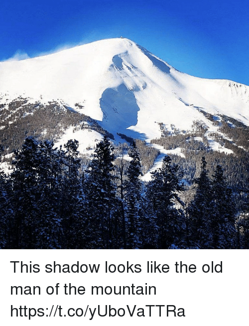 Old Man, Old, and Faces-In-Things: This shadow looks like the old man of the mountain https://t.co/yUboVaTTRa