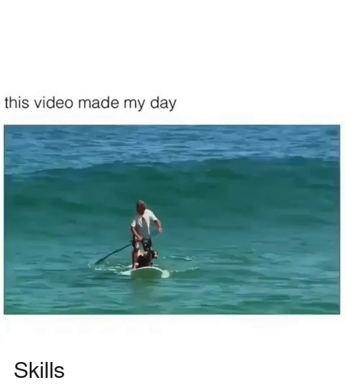 Memes, Video, and 🤖: this video made my day Skills