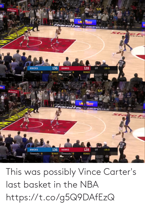 NBA: This was possibly Vince Carter's last basket in the NBA https://t.co/g5Q9DAfEzQ