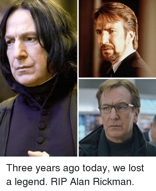Memes, Alan Rickman, and Lost: Three years ago today, we lost a legend. RIP Alan Rickman.