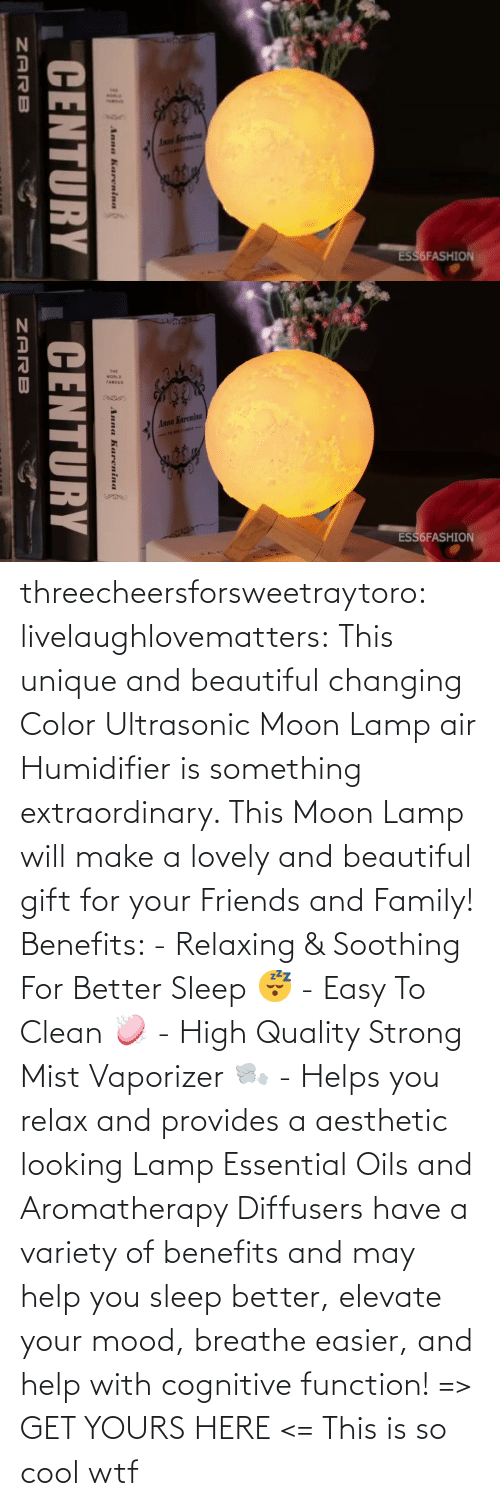 Aesthetic: threecheersforsweetraytoro: livelaughlovematters:   This unique and beautiful changing Color Ultrasonic Moon Lamp air Humidifier is something extraordinary. This Moon Lamp will make a lovely and beautiful gift for your Friends and Family! Benefits:  - Relaxing & Soothing For Better Sleep 😴 - Easy To Clean 🧼 - High Quality Strong Mist Vaporizer 🌬️ - Helps you relax and provides a aesthetic looking Lamp Essential Oils and Aromatherapy Diffusers have a variety of benefits and may help you sleep better, elevate your mood, breathe easier, and help with cognitive function! => GET YOURS HERE <=    This is so cool wtf