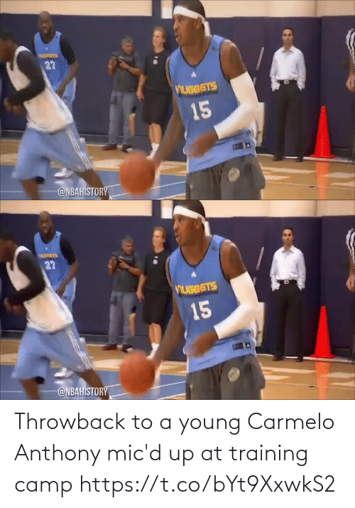 camp: Throwback to a young Carmelo Anthony mic'd up at training camp https://t.co/bYt9XxwkS2