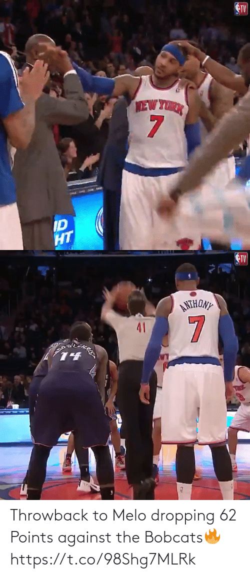 Points: Throwback to Melo dropping 62 Points against the Bobcats🔥 https://t.co/98Shg7MLRk
