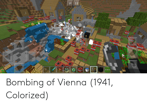 bombing: THT  THT Bombing of Vienna (1941, Colorized)