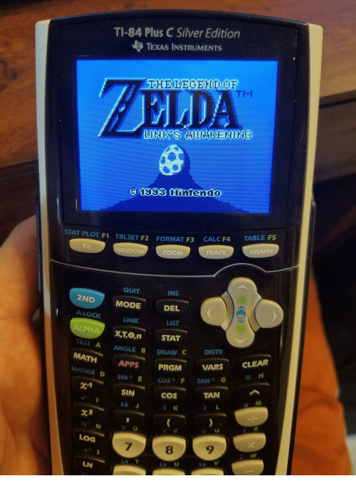 TI-84 Plus C Silver Edition TEXAS INSTRUMENTS ZELDA 533 IEHI STAT