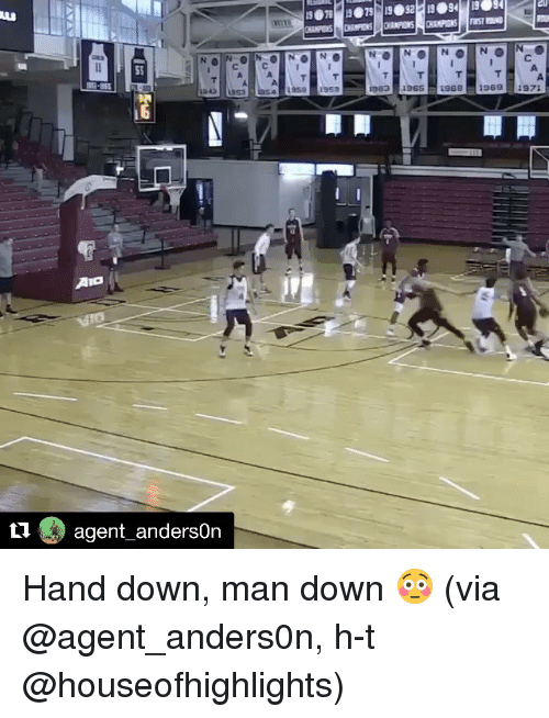 Sports, Man Down, and Aio: ti  AIO  agent anderson  LASA  BSS 1968 1969  1971  1963 Hand down, man down 😳 (via @agent_anders0n, h-t @houseofhighlights)