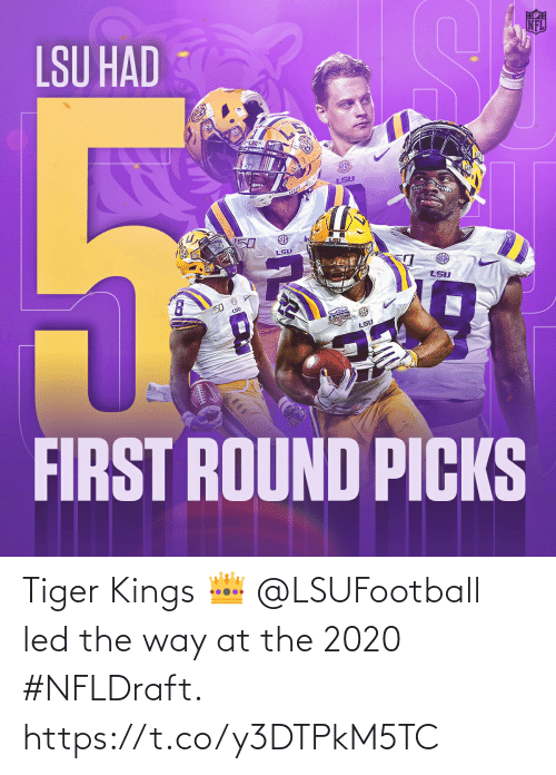 led: Tiger Kings 👑  @LSUFootball led the way at the 2020 #NFLDraft. https://t.co/y3DTPkM5TC