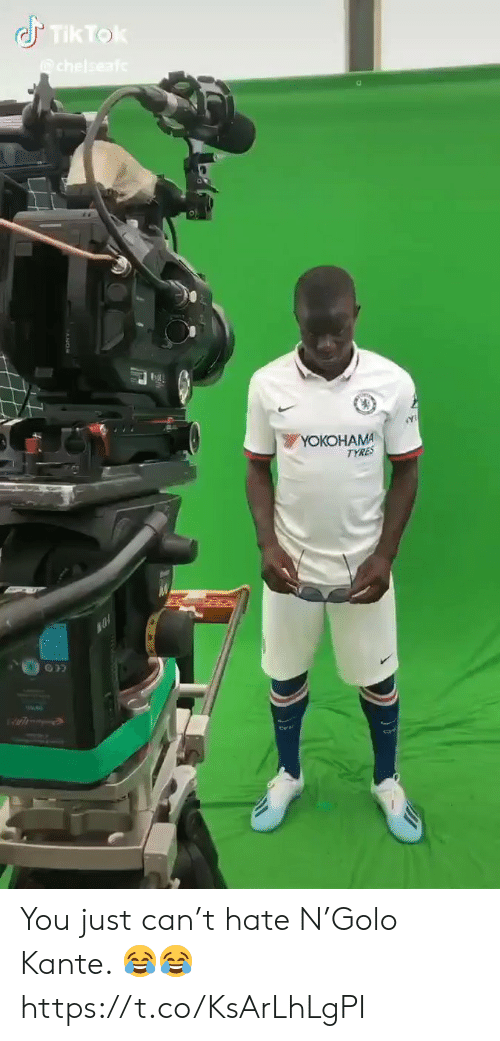 Soccer, Yo, and Can: Tik Tok  chelseaf  YOКОHАMA  TYRES You just can't hate N'Golo Kante. 😂😂 https://t.co/KsArLhLgPI