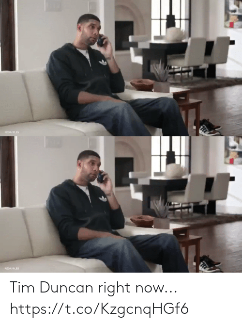right: Tim Duncan right now... https://t.co/KzgcnqHGf6