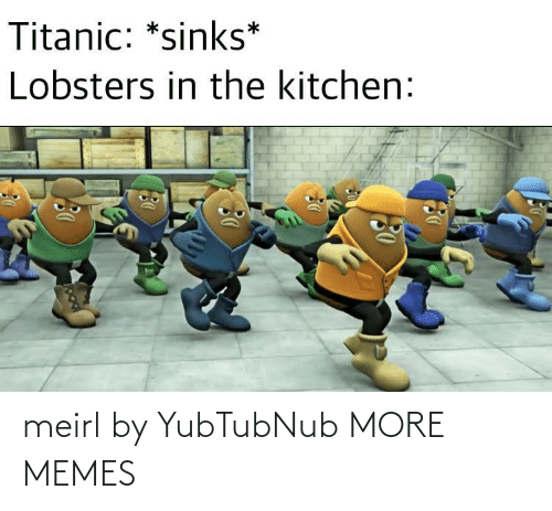 Titanic: Titanic: *sinks*  Lobsters in the kitchen: meirl by YubTubNub MORE MEMES