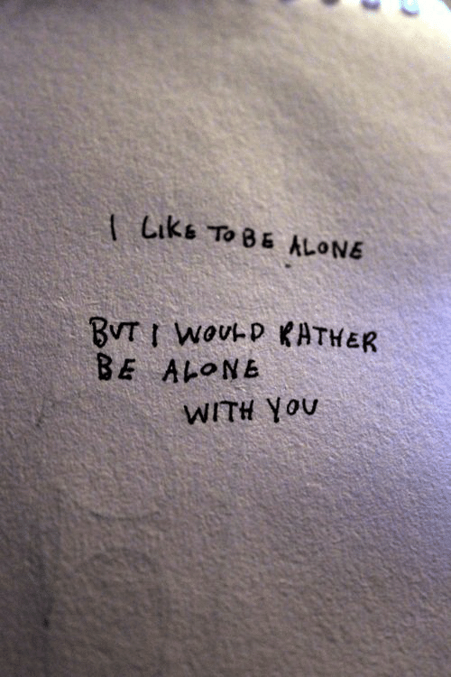 Being Alone, You, and With You: tLiks To 8 ALONE  BE ALONE  WITH You
