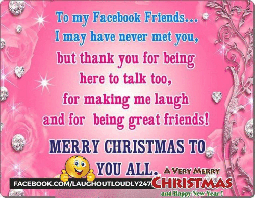 To My Facebook Friendsoo G I May Have Never Met You But Thank You