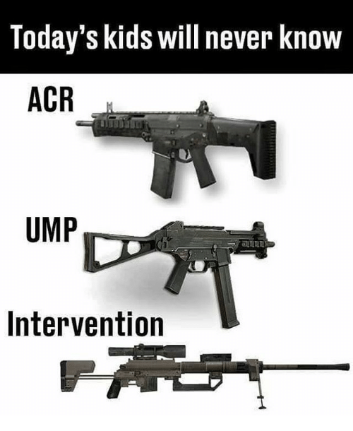 Memes, Kids, and Never: Today's kids will never know  ACR  UMP  Intervention