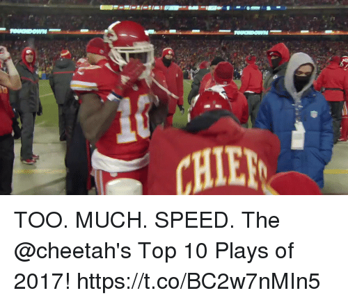 Memes, Too Much, and 🤖: TOO. MUCH. SPEED.  The @cheetah's Top 10 Plays of 2017! https://t.co/BC2w7nMIn5