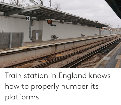 England: Train station in England knows how to properly number its platforms