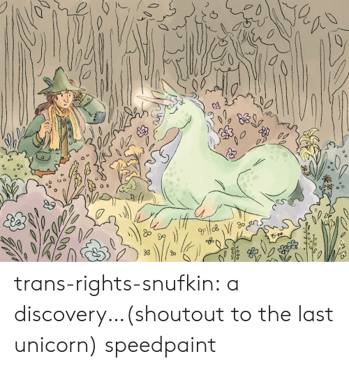 Tumblr, Blog, and Unicorn: trans-rights-snufkin:  a discovery…(shoutout to the last unicorn) speedpaint