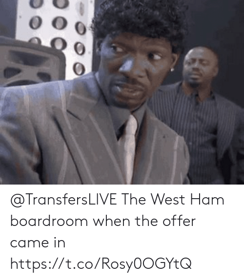 Soccer, Ham, and West Ham: @TransfersLlVE The West Ham boardroom when the offer came in https://t.co/Rosy0OGYtQ