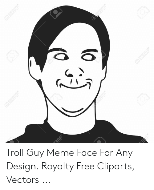 Meme, Troll, and Cartoon: Troll Guy Meme Face For Any Design. Royalty Free Cliparts, Vectors ...