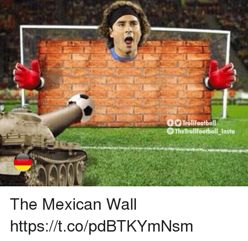 Memes, Mexican, and 🤖: TrollFootball  The TrollFootball Insta The Mexican Wall https://t.co/pdBTKYmNsm