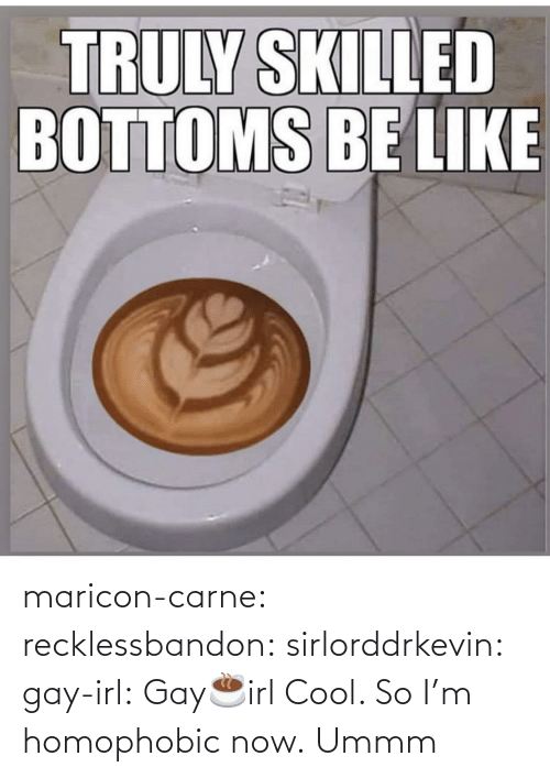 Be Like, Gif, and Tumblr: TRULY SKILLED  BOTTOMS BE LIKE maricon-carne: recklessbandon:  sirlorddrkevin:   gay-irl:  Gay☕️irl    Cool. So I'm homophobic now.      Ummm