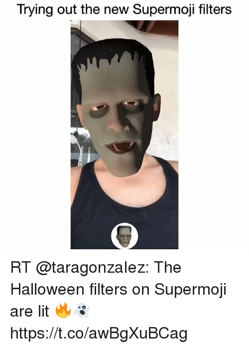 Trying Out the New Supermoji Filters RT the Halloween