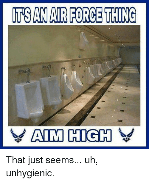 Thing, Just, and Seems: TSAN AIRFORCE THING That just seems... uh, unhygienic.