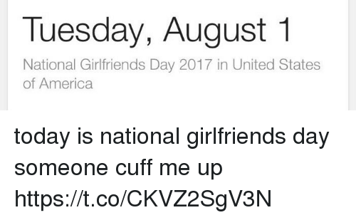 Tuesday August 1 National Girlfriends Day 2017 in United