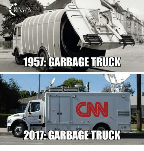 Memes, 🤖, and Garbage: TURNING  POINT U  1957: GARBAGE TRUCK  ONN  2017:GARBAGE TRUCK