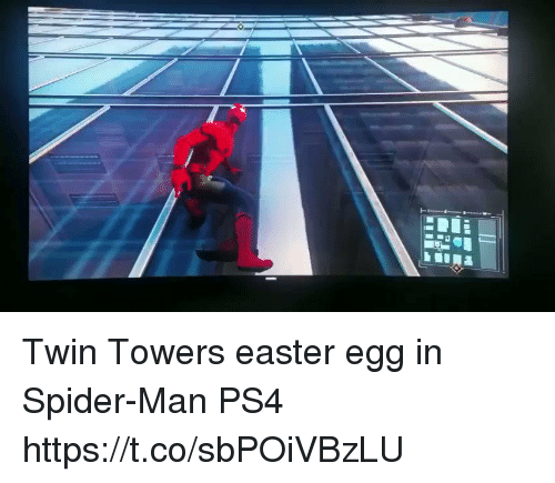 easter egg: Twin Towers easter egg in Spider-Man PS4 https://t.co/sbPOiVBzLU