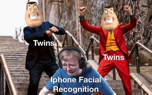 Twins: Twins  Twins  lphone Facial  Recognition