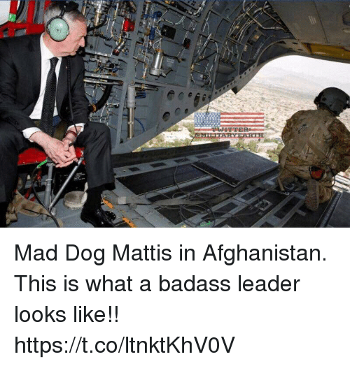 Memes, Twitter, and Afghanistan: TWITTER Mad Dog Mattis in Afghanistan. This is what a badass leader looks like!! https://t.co/ltnktKhV0V