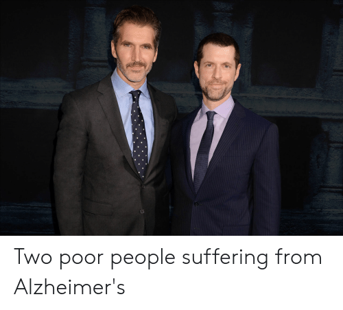 Alzheimer's, Suffering, and Poor: Two poor people suffering from Alzheimer's