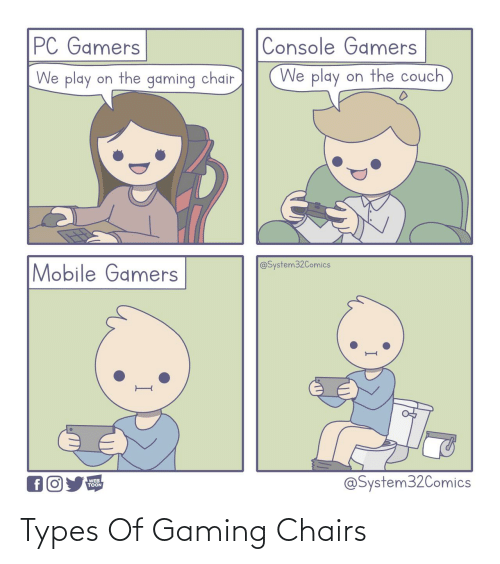 Gaming: Types Of Gaming Chairs