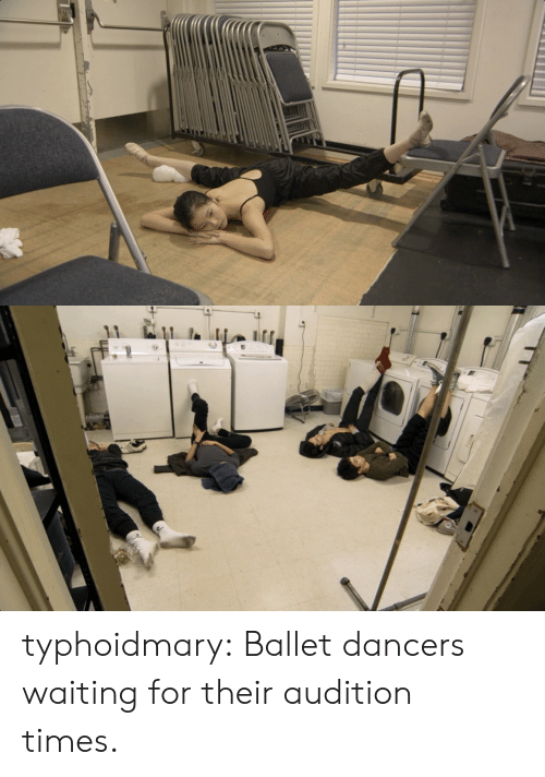 Ballet: typhoidmary:  Ballet dancers waiting for their audition times.