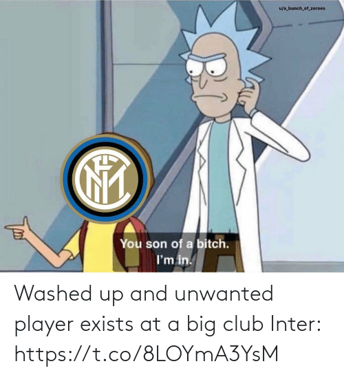 son: u/a bunch_of_zeroes  You son of a bitch.  I'm in. Washed up and unwanted player exists at a big club  Inter: https://t.co/8LOYmA3YsM