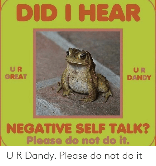 Please Do: U R Dandy. Please do not do it