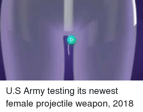 U S Army: U.S Army testing its newest female projectile weapon, 2018