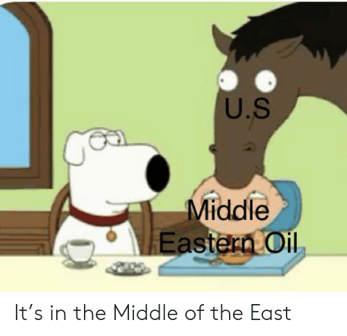 History, The Middle, and East: U.S  Middle  Eastern Oil It's in the Middle of the East