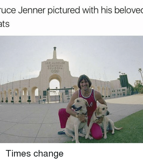 Dank Memes, Change, and Beloved: uce Jenner pictured with his beloved  ats Times change