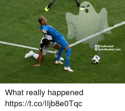 Memes, 🤖, and What: ug  FO TrollFootball  TheTrollFootballInsta  -  t3 What really happened https://t.co/IIjb8e0Tqc