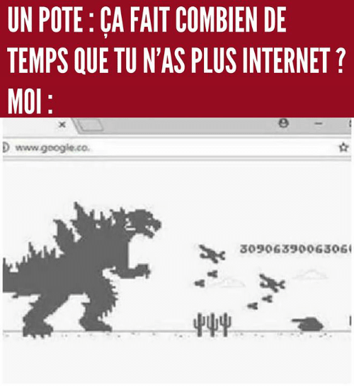 Google, Internet, and Memes: UN POTE: CA FAIT COMBIEN DE  TEMPS QUE TU N'AS PLUS INTERNET?  MOl  D www.google.co  3090639006306