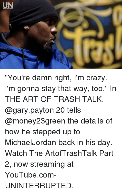 the art of trash talking Hot hot hoops a miami heat community log in or sign up log in sign up share does trash talking give players a mental edge tweet.