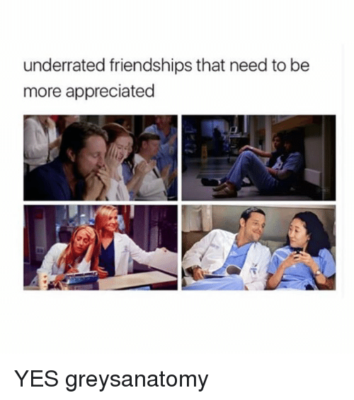 Memes, 🤖, and Yes: underrated friendships that need to be  more appreciated YES greysanatomy