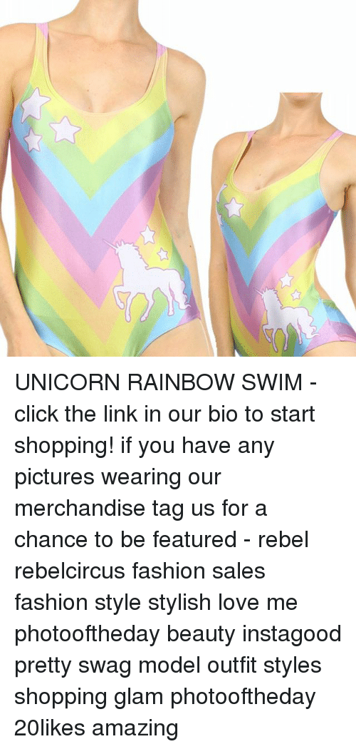 Unicorn Rainbow: UNICORN RAINBOW SWIM - click the link in our bio to start shopping! if you have any pictures wearing our merchandise tag us for a chance to be featured - rebel rebelcircus fashion sales fashion style stylish love me photooftheday beauty instagood pretty swag model outfit styles shopping glam photooftheday 20likes amazing