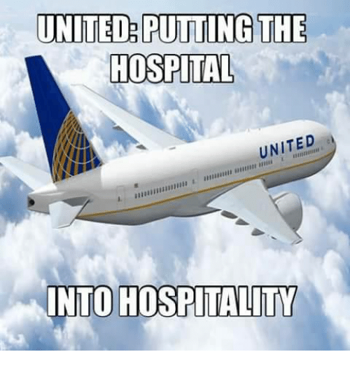 Memes, Hospital, and United: UNITED PUTTING THE  HOSPITAL  UNITED  INTO HOSPITALITY