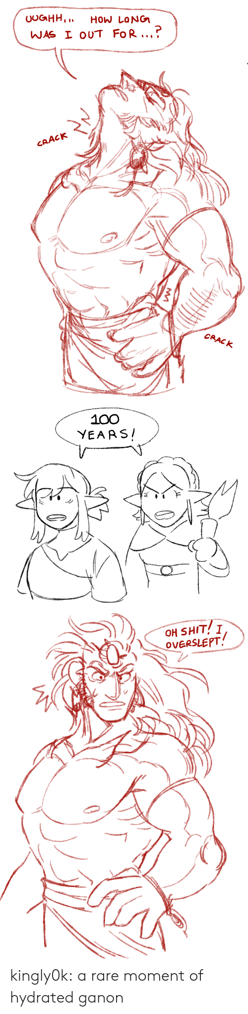 100 Years: UOGHH,  How LoNG  WAS I OUT FoR..  CRACK  CRACK   100  YEARS   OH SHIT! I  OVERSLEPT kingly0k:  a rare moment of hydrated ganon